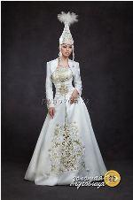 Казахский национальное женское платье картинки