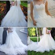 Очень пышное свадебное платье!!!