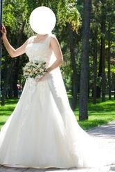 Продам свадебное платье нежное цвета айвори