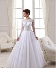 Распродажа - Новое белоснежное платье с вышивкой