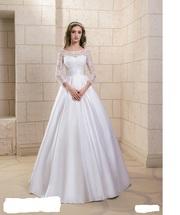 Новое очаровательное европейское свадебное платье с рукавами 2018 г.