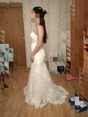 Свадебное платье рыбка айвори