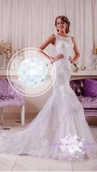 Кружевное Свадебное платье с силуэтом «рыбка»