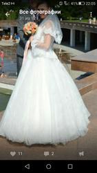 Свадебное платье,  б/у  Алматы продам красивое свадебное платье.