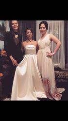Продам свадебное платье атласное!