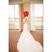 Свадебное платье рыбка. платье на узату той . В xорошем состоянии