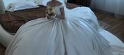 Свадебное платье, цвет Айвори 42-44 со шлейфом
